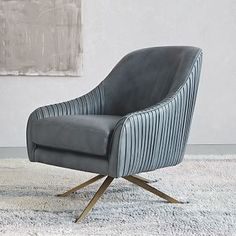 office lounge chair Roar + Rabbit Swivel Chair - Leather
