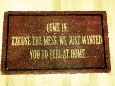 England At Home Door Mat
