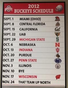2012 schedule!