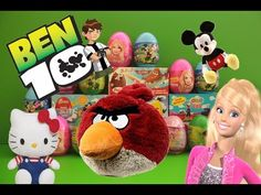 Surprise Eggs Ben 10 Barbie Angry Birds Hello Kitty Mickey Mouse