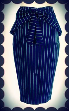 Envy Pinstripe Peplum Skirt - Envy - Collections