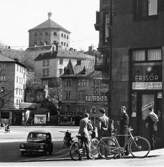 Haga 1951 Gothenburg Sweden, Once Upon A Time, Stockholm, Old Photos, Past, Times Square, Beautiful Pictures, Street View, Sky
