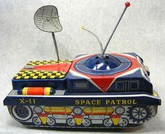 Vintage 60's Japan Space Patrol x 11 Tin Tank Toy | eBay