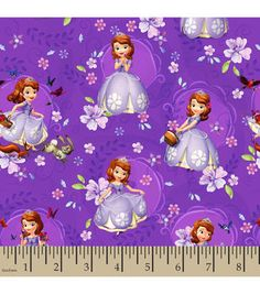 Disney® Junior Sofia the First Scenic Toss Cotton Fabric