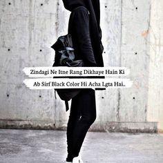 48216637 Bahot badal gaya zalim ne itne waade liye the Attitude Quotes For Boys, Girl Attitude, Crazy Girl Quotes, Girly Quotes, Swag Quotes, Black Quotes, Funny True Quotes, True Love Quotes, Mixed Feelings Quotes