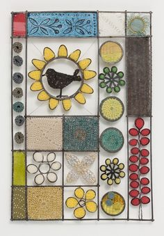 This could be a way to display crochet sampler pieces.  Liz Cooksey - Textitle Artist - Gallery II - crochet and fiber art