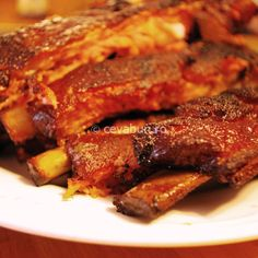 10 good rib recipes for grilling or smoking BBQ ribs. Whether you are using pork or beef ribs, you will find a recipe you love in this list. Grilled Bbq Ribs, Smoked Pork Ribs, Barbecue Pork Ribs, Beef Ribs, Pork Brisket, Barbecue Recipes, Roast Beef, Rib Recipes, Seafood Recipes