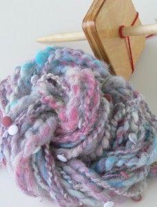 drop spindle art yarn
