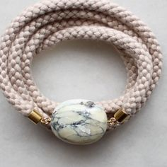 The Vamoose - Braided Rope and Marble Necklace £36