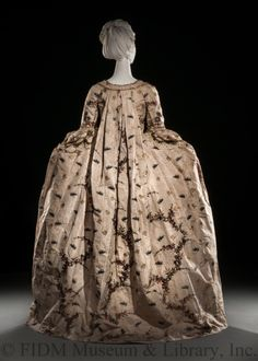 "fripperiesandfobs: ""  Robe à la française, 1760′s From the Helen Larson Historic Fashion Collection at the FIDM Museum """