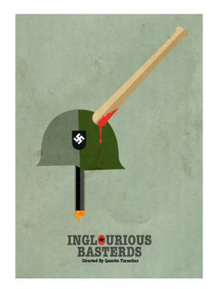 Inglourious Basterds (2009) ~ Minimal Movie Poster by David Peacock