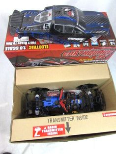 Redcat Racing Earthquake 8E 1/8 Scale Brushless Electric RC Truck Blue-AS IS #RedcatRacing