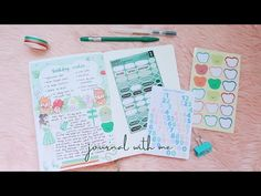 journal with me: green theme 🌿 my birthday wishes - YouTube