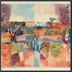 Paul Klee, Hammamet, 1914. From swissinfo.ch.