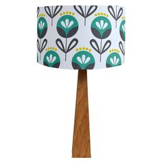 Pop Flower Teal Table Lamp