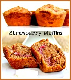 Florida Strawberry Muffins Recipe — Dishmaps