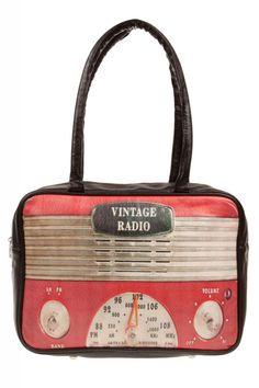 #bag #hold-all #retro #vintage #woman #accessory #radio