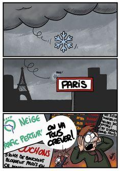 Nâwâck (2018-02-06) France: Il neige sur Paris... on va tous mourir ! Nawak 2018