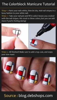The Colorblock Manicure | Beauty Tutorials