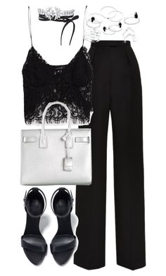 """Untitled #19568"" by florencia95 ❤ liked on Polyvore featuring mode, Vilshenko, Zara, Yves Saint Laurent et Fallon"