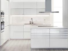 White featherdream - ikea kitchen