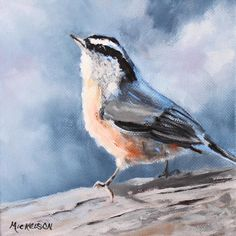Redbreasted Nuthatch Painting    Debra Mickelson