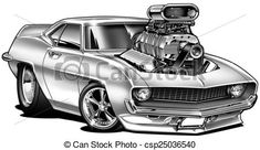 468 Best Cartoon Muscle Cars Images Drawings Of Cars Car Drawings