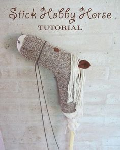Stick Hobby Horse Tutorial from Chickabug