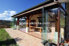 cerramientos de porches acristalados con cortinas de cristal