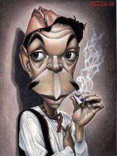 Mexican comic Actor and film producer CANTINFLAS by Walter Toscano