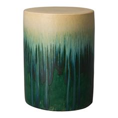 This Round ceramic garden stool with a Green Cascade glaze is the perfect touch to any indoor or outdoor space. It can be used as a small side table, an extra-seat or as a planter pedestal. This collection offers the best combination of design and glazes. Ceramic Stool, Ceramic Garden Stools, Outdoor Stools, Outdoor Tables, Outdoor Dining, Burke Decor, The Perfect Touch, Color Splash, The Help