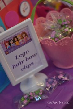 "Photo 1 of 40: LEGO® Friends, Pink, Purple, Girl / Birthday ""Danika's LEGO® Friends 7th Birthday"" 