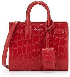 Saint Laurent Sac de Jour Toy Satchel Bag, Red