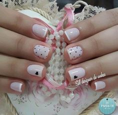 Unhas Stileto Cute Nail Designs Short Nail Designs Gel Nails Acrylic Nails Pretty Nails Cute Nails Nail Colors Nails Only Classy Nails, Stylish Nails, Simple Nails, Love Nails, Fun Nails, Pretty Nails, Valentine's Day Nail Designs, Nails Design, Nagellack Design