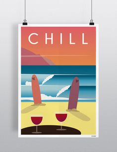 Poster : SUMMER CHILL  Available in A3 & A4   Find it here :   ETSY : https://www.etsy.com/shop/ROMK  A Little Market : http://www.alittlemarket.com/boutique/romk-770965.html  Shipping worldwide.