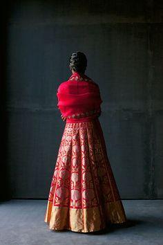 By designer Sanjay Garg. Shop for your wedding trousseau, with a personal shopper and stylist in India - Bridelan, visit our website www.bridelan.com #Bridelan #RawMango #SanjayGarg