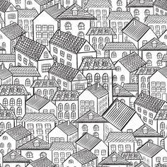 seamless radhus illustration Stockfoto