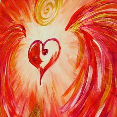 """... heute zu Abend darf Dich der Powerangel der Selbstliebe begleiten und Dich daran erinnern.... daß die Nr. 1 im Leben immer Du👍🥰❤️bist!!!  Herzlichst Carmen##herzoase#frequency#love#carmens#loveart#kunst#art#kunstart#carmen-art#painting#artwork#withlove#spirit#spiritualität#sozl#grateful#gratitude#chakra#musthave#nice#beautiful#schwingung#energy#energyart#fantastic#decoration#dekoideen#deko#dekoration#dekoliebe   Bild/Quelle: """"Powerangel der Selbstliebe"""" by Carmen-Art"""