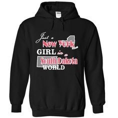 Design1 Just a New York Girl in #South Dakota World, Order HERE ==> https://www.sunfrog.com/States/Design1-Just-a-New-York-Girl-in-South-Dakota-World-9731-Black-Hoodie.html?6789, Please tag & share with your friends who would love it , #christmasgifts #renegadelife #jeepsafari  things to do in #south dakota, south dakota road trip, south dakota vacation  #weddings #women #running #swimming #workouts #cooking #receipe