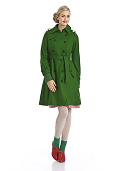 green trenchcoat: would love something like that...