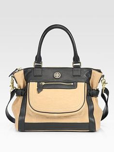 TB goatskin leather satchel
