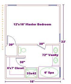 Small master bedroom layout narrow master suite layout master bedroom ideas design with master bath small Master Bedroom Addition, Master Bedroom Plans, Master Bedroom Bathroom, Master Bedroom Closet, Girls Bedroom, Bathroom Closet, Master Bedrooms, Bedroom Addition Plans, Master Baths