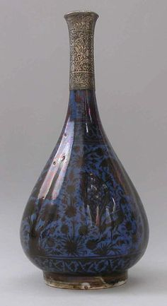 Bottle Depicting a Peacock in Foliage, 17th century. Iran; Islamic. The Metropolitan Museum of Art, New York. Edward C. Moore Collection, Bequest of Edward C. Moore, 1891 (91.1.188)