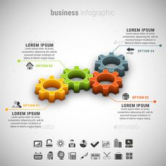 Business Infographic — Photoshop PSD #info #colorful • Available here → https://graphicriver.net/item/business-infographic/15189360?ref=pxcr