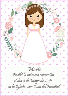 NICOL  ARIZA Diy Banner, First Communion, Origami, Diy And Crafts, Clip Art, Invitations, Disney Characters, Magdalena, Banners