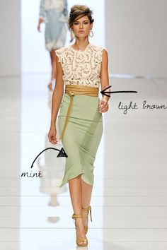 ermanno-scervino-mint-brown-color-combination-mint-skirt-beige-belt-spring-2012-runway-how-to-wear-mint-spring-pretty-please-us