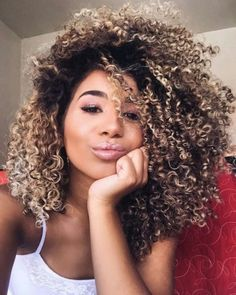 Trendy Hair Color Natural Highlights Curls 37 Ideas #hair