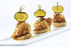 Lumen at The Ritz-Carlton, Atlanta uses local pumpkin butter as a condiment on the Chicken Biscuit to enhance the sweet and savory flavors.