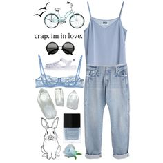 """DAY WEAR - VINTAGE BLUE."" by pretty-basic on Polyvore"