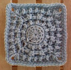 "Ravelry: Ring around a New Year 6"" Square pattern by Aurora Suominen"